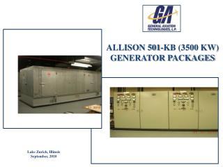 ALLISON 501-KB (3500 KW) GE NERATOR PACKAGES