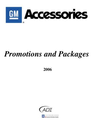 Promotions and Packages