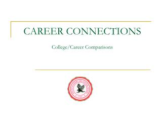 CAREER CONNECTIONS College/Career Comparisons