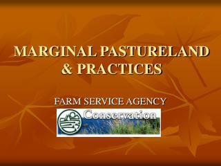 MARGINAL PASTURELAND & PRACTICES