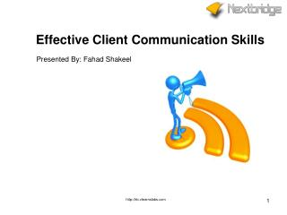 Effective Client Communication Skills