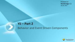 Yii  – Part 2