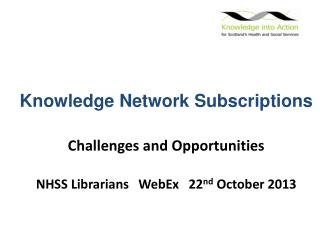 Knowledge Network Subscriptions