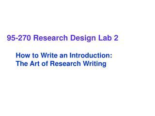 95-270 Research Design Lab 2