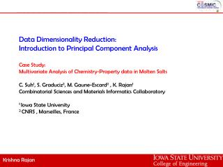 Data Dimensionality Reduction: Introduction to Principal Component Analysis Case Study: