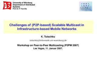 Challenges of (P2P-based) Scalable Multicast in Infrastructure-based Mobile Networks