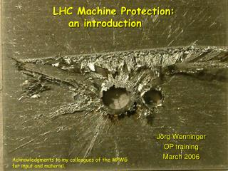 LHC Machine Protection: 	an introduction