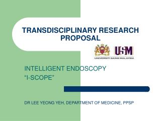 TRANSDISCIPLINARY RESEARCH PROPOSAL