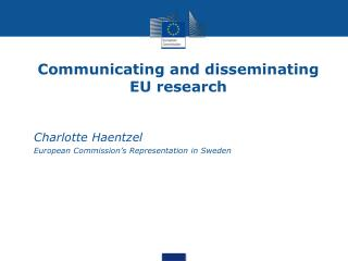 Communicating and disseminating EU research