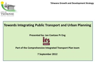 Tshwane Growth and Development Strategy