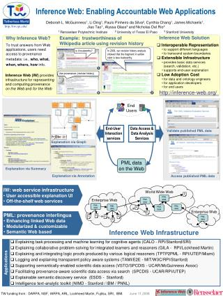 Inference Web: Enabling Accountable Web Applications