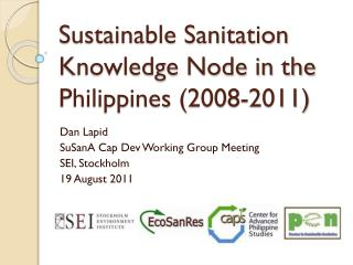 Sustainable Sanitation Knowledge Node in the Philippines (2008-2011)