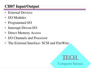 CH07 Input/Output