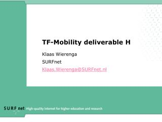 TF-Mobility deliverable H