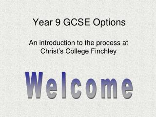 Year 9 GCSE Options