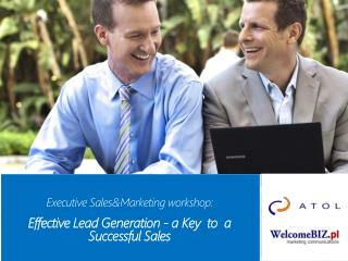 Executive  S ales &M arketing workshop :