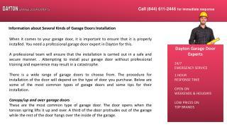 Information about Several Kinds of Garage Doors Installation