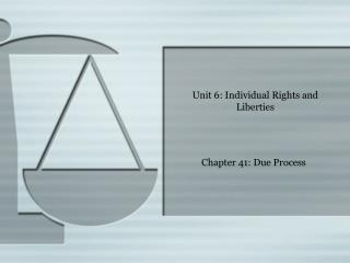 Unit 6: Individual Rights and Liberties