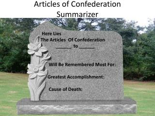 Articles of Confederation Summarizer