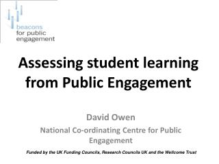 Assessing student learning from Public Engagement