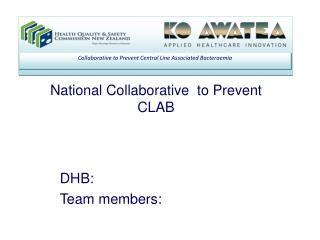 National Collaborative  to Prevent CLAB