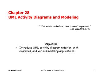 Chapter 28 UML Activity Diagrams and Modeling
