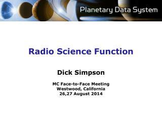 Radio Science Function