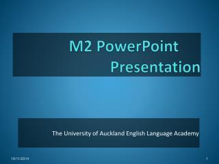 M2  PowerPoint Presentation