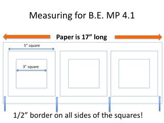 Measuring for B.E. MP 4.1
