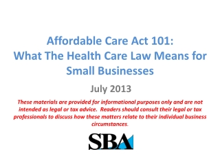Health Reform Impact on Group Business
