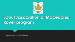 Scout  Association of Macedonia Rover program