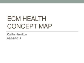 ECM Health concept map
