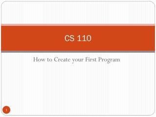 CS  110