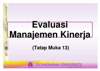 Evaluasi Manajemen Kinerja
