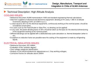 Technical Description:  High Altitude Analysis
