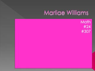 Marliae Williams