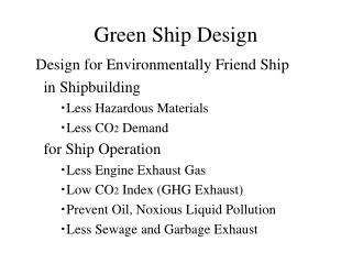 Green Ship Design