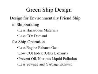 Green Ship Design