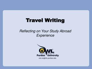 EPICS: Travel Writing