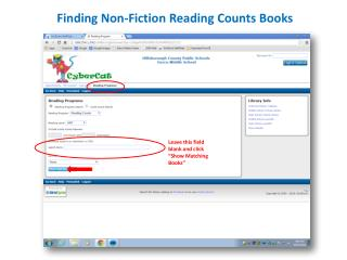 Finding Non-Fiction Reading Counts Books