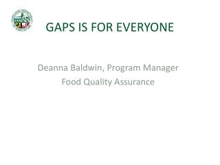 GAPS IS FOR EVERYONE