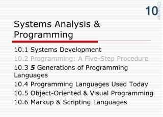Systems Analysis & Programming