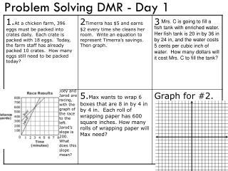 Problem Solving DMR - Day 1