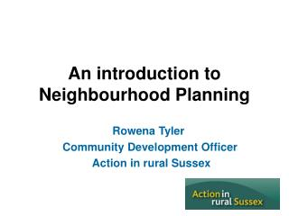 An introduction to Neighbourhood Planning