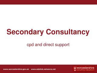Secondary Consultancy