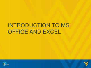 Introduction to  ms  office and excel