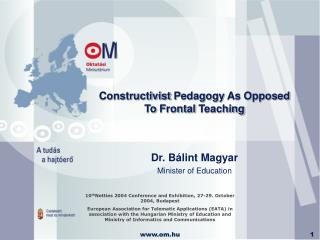 Constructivist  P edagogy  As Opposed To F rontal  T eaching