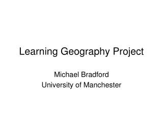 Learning Geography Project