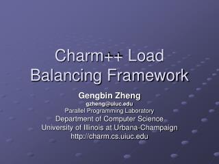 Charm++ Load Balancing Framework