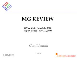 MG REVIEW Office Visit- June/July, 2000 Report Issued- July ___, 2000
